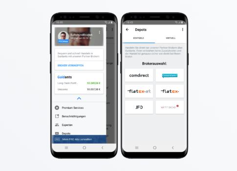 Guidants mobile trading