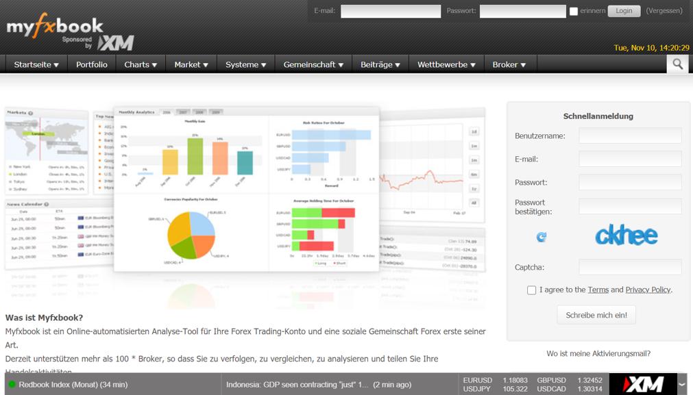 Myfxbook Screenshot Website
