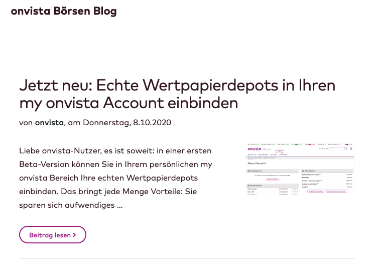 Onvista Blog