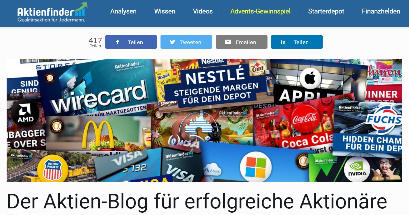 Aktienfinder Blog