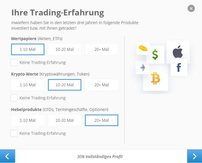 eToro Kenntnisse Aktien kaufen