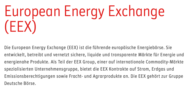 Börse Frankfurt EEX