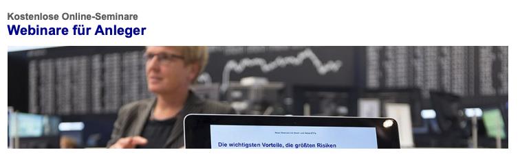 Börse Frankfurt Webinare