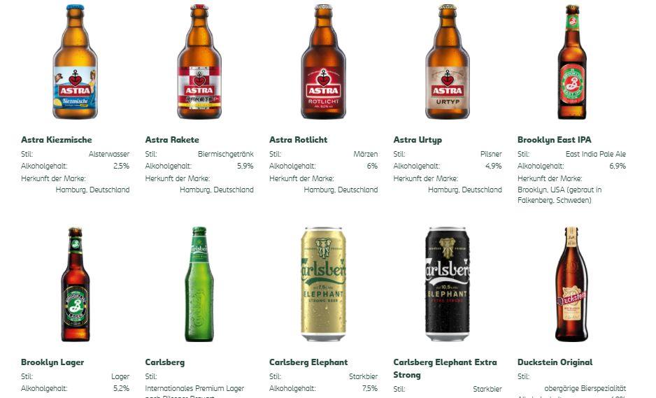 Carlsberg Biersorten