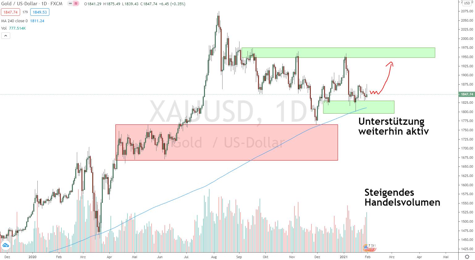 Goldpreis Analyse 31.01.2021