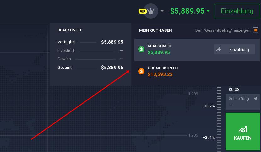 Demokonto und Realkonto in der Trading Plattform