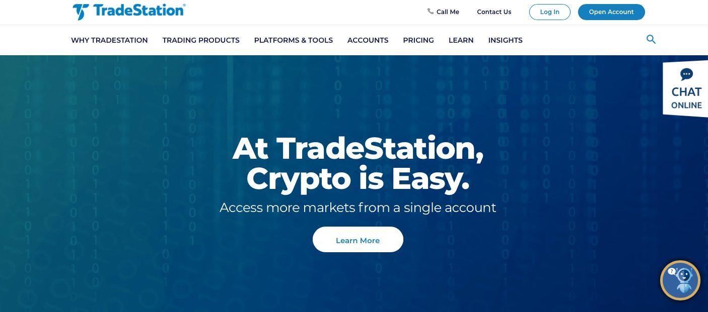 TradeStation Webseite