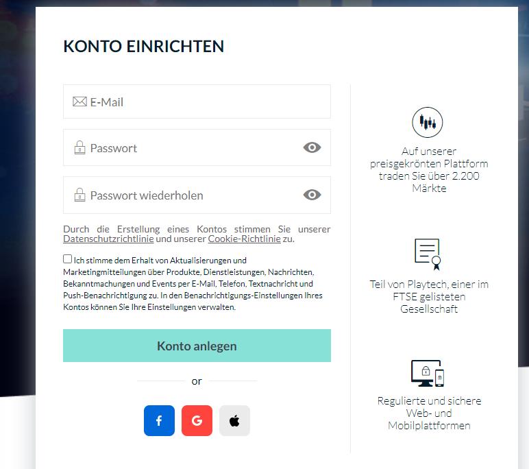 Eröffnung eines Forex Kontos bei Markets.com