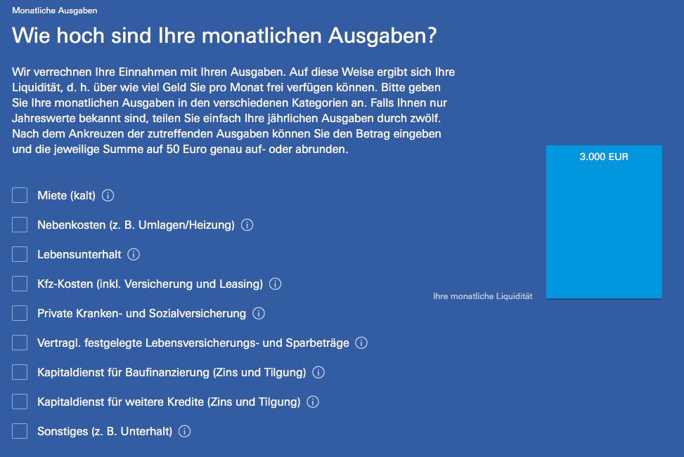 Deutsche Bank Robo-Advisor Robin - Abfrage Monatliche Ausgaben