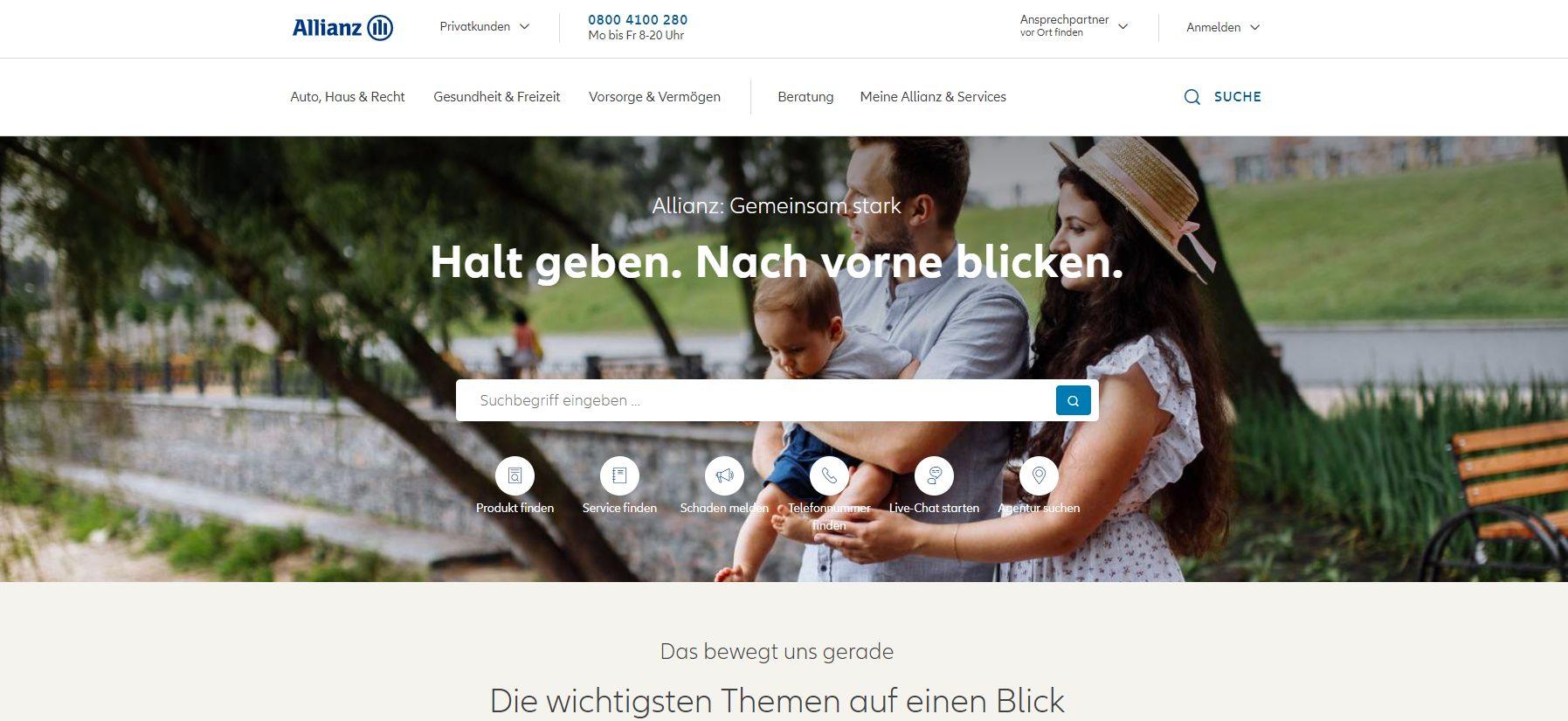 Offizielle Webseite der Allianz