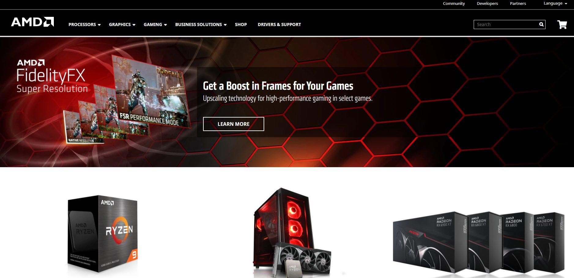 Offizielle Webseite von AMD