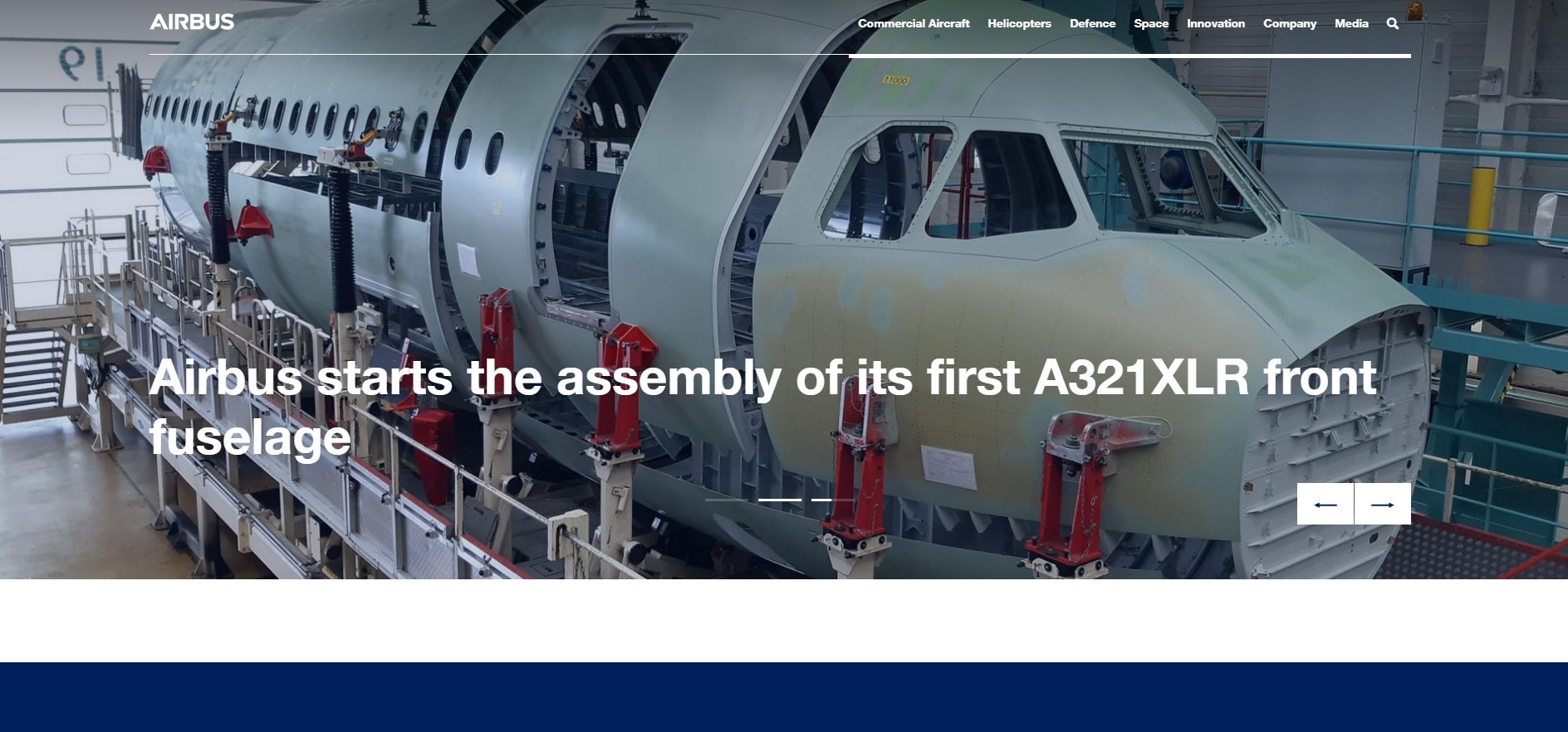 Offizielle Webseite von Airbus