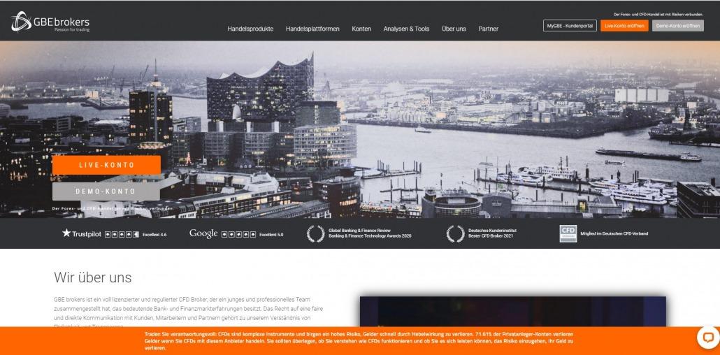 Offizielle Webseite von GBE Brokers