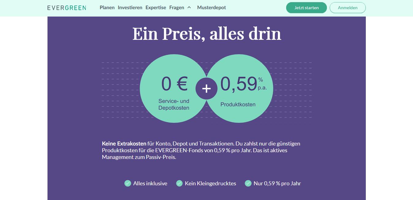 Gebühren Evergreen Investments